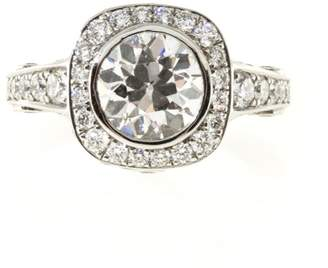 Platinum with 1.98ct Old European Diamond Engagement Ring Size 6
