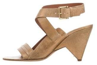Derek Lam Embossed Leather Multistrap Sandals