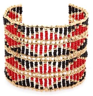 Rosantica By Michela Panero - Dakota Beaded Cuff - Womens - Red