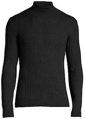 Corneliani Men's Merino Wool Textured Turtleneck Sweater