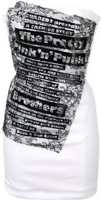DSQUARED2 strapless mini dress