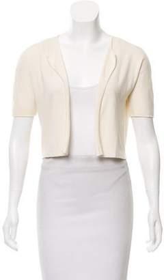 Narciso Rodriguez Short Sleeve Open-Front Cardigan