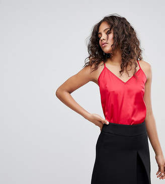 Fashion Union Tall cami top with tie back in satin