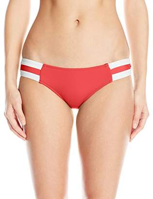 Seafolly Women's Block Party Spliced Hipster Full Coverage Bikini Bottom Swimsuit