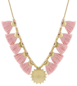 Lucky Brand Poets Garden Fringe Statement Necklace