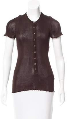 Dolce & Gabbana Silk Button-Up Top