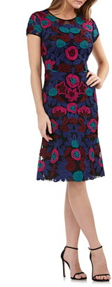 JS Collections Floral Soutache Cocktail Dress