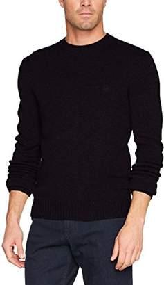 Benetton Men's Sweater L/s Sweatshirt, (Black 100), Large