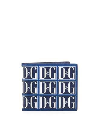 Dolce & Gabbana Men's Logo Tile Bifold Wallet
