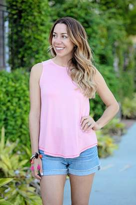 Gibson Casey Soft Jersey Bow Back Tank