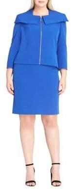 Tahari Arthur S. Levine Classic-Fit Zip Front and Skirt Suit