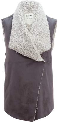 Dylan Frosty Tipped Shearling Snap Vest - Women's