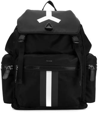 Bally large stripe backpack
