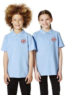 F&F Unisex Embroidered School Polo Shirt 9-10 yrs