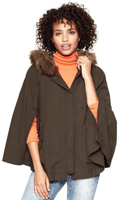 Gap Fur military cape