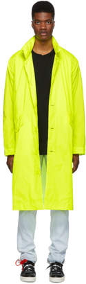 Opening Ceremony Yellow Hooded Trench Coat