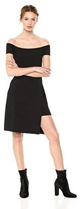 Susana Monaco Women's Gabrielle Off Shoulder Double Layer Slit Dress