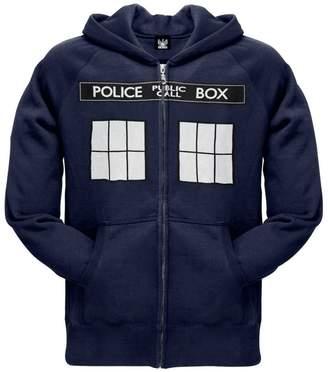 Doctor Who Large TARDIS Zip Hoodie