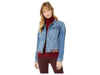 Vince Camuto Tapestry Patchwork Classic Denim Jacket