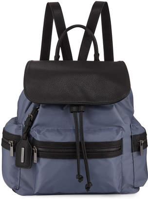 Neiman Marcus Elizabeth Two-Tone Nylon Backpack