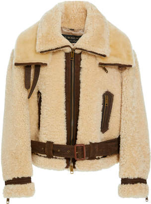 Burberry Shearling Moto Jacket