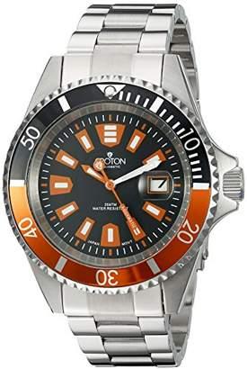 Croton Men's CA301282BKOR Analog Display Quartz Silver Watch