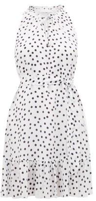 Heidi Klein Santa Margherita Ligure Polka Dot Silk Mini Dress - Womens - White Print