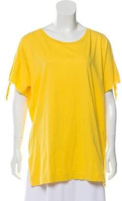 Dries Van Noten Tie-Accented Short Sleeve T-Shirt w/ Tags
