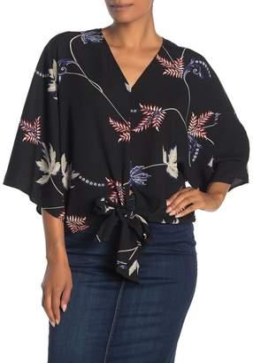 Dress Forum Bold Flower Kimono Blouse
