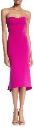 Zac Posen Sweetheart-Neck Bodycon Flared-Hem Midi Cocktail Dress