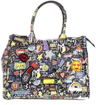 Gianni Chiarini Black Gum Street Bag In Rubber