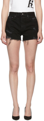 GRLFRND Black Denim Helena Shorts