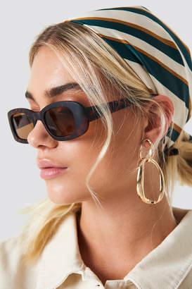 Na Kd Accessories Retro Rectangular Sunglasses Tortoise