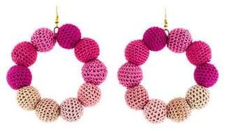 MISA Los Angeles Crochet Dots Earrings