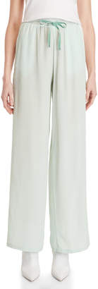 Semi-Couture Semicouture Silk Drawstring Wide Leg Pants