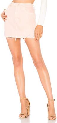 Mother The Vagabond Mini Fray Skirt.