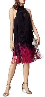 Karen Millen Dip-Dye Fringed Shift Dress