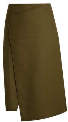 Joseph Page Wool And Cashmere Blend Skirt - Womens - Dark Green