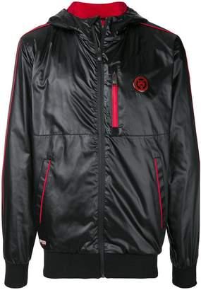 Plein Sport patch waterproof bomber jacket