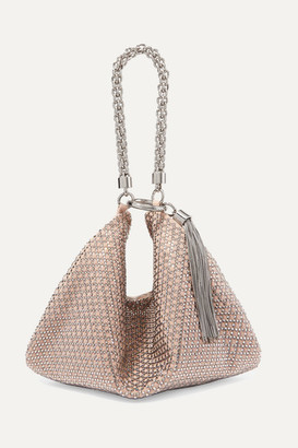 Jimmy Choo Callie Crystal-embellished Suede Clutch - Pink