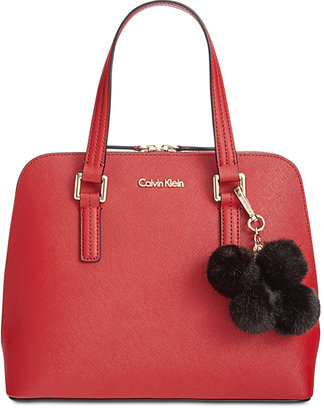 Calvin Klein Saffiano Leather Satchel $228 thestylecure.com