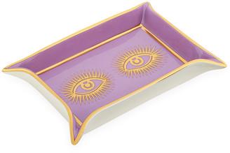 Jonathan Adler Eyes Valet Tray - Purple/Gold