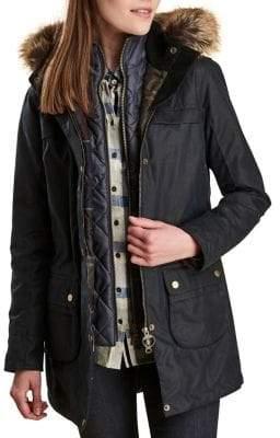 Barbour Dartford Parka Faux Fur Jacket