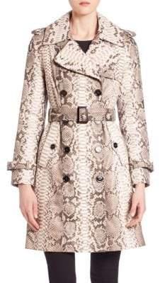 The Fur Salon Python Trench Coat