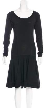 Donna Karan Flared Knit Dress
