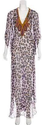 Diane von Furstenberg Animal Print Maxi Dress