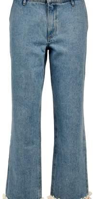 Jour/ne Lace Trim Jeans