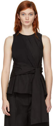3.1 Phillip Lim Black Twist Front Tank Top
