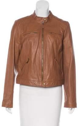 Joie Leather Zip-Up Jacket
