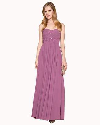 Le Château Chiffon Jewel Embellished Sweetheart Gown